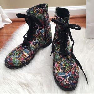 Marvel Comic Combat Boots